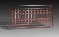 Rectangular Iron Window Grill