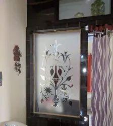 Transparent Glossy Modern Digital Printed Decorative Glass, Thickness: 12 Mm, Size: 4x3 Feet