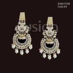 Fusion Arts Indo Western Kundan Chandbali Earrings