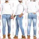 Blue Plain Gents Denim Jeans Pants, Size: 28-34