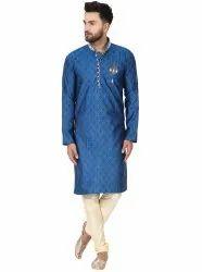 Men's Jacquard Silk Kurta Pajama