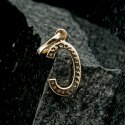 Diamond Initial C Pendant, 14k Gold Pendant, Diamond Alphabet,PEMJ- 1501