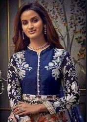 Hotlday Safeena Vol 21 Silk Georgette Wedding Gown Type Salwar Suit Catalog