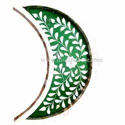 Moon Shape Mother Of Pearl Tray