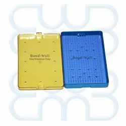 Bond Well Medium Plastic Sterilization Tray With Strip, For Ophthalmic Instrument, For Hospital