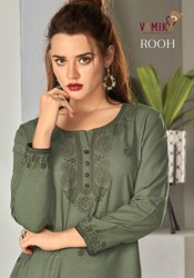 Vamika NX Rooh Rayon Viscose With Lakhnawi Kurti Catalog