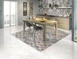 Ceramic Gloss 4 Mm HD Kitchen Floor Tiles, Packaging Type: Box