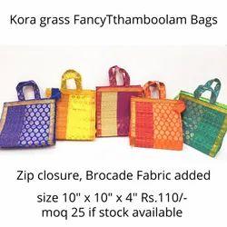 Kora Grass Wedding Gift Thamboolam Bag