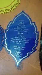 Acrylic Invitation Multicolor