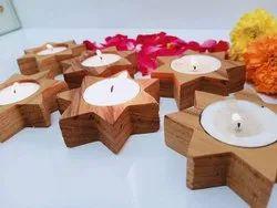棕色生日聚会木制星星蜡烛