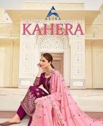 Alisa Fashion Kahera Jacquard Silk With Work Designer Salwar Suit Catalog