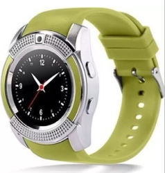 Silicone V8 Smartwatch Touch Screen With Camera Sim Card Slot