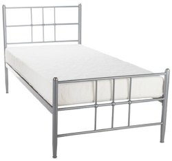 Polished Stainless Steel Single Bed, For Hostel, Size: 6x 3