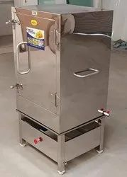 Stainless Steel LIVE STEAM DHOKLA MACHINE, Gas