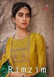 Deepsy Suits Rimzim Mulberry Silk With Cording Embroidery Straight Salwar Suit Catalog