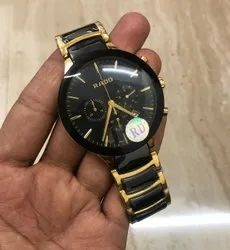 Men Round Rado Chronograph Watch For Personal Use