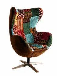 Modern Designer Cast Iron Swivel Chair, For Home, Back Style: High Back