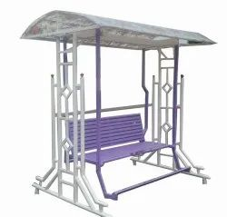 Stainless Steel Purple And White Wrought Iron Home Swing