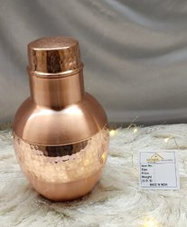 Round Sugar Pot Pure Copper Bedroom Jar for Home, Size: 14x23 Cm