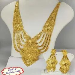 Gold Plated Rani Haar Necklace And Earing Jewellery Set For Women And Girl Bijoux 3
