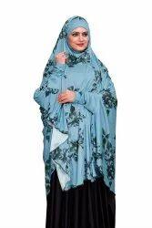 Floral Printed Spun Lycra Women Prayer Hijab