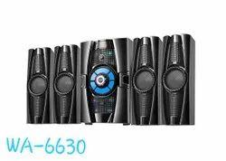 5.1 Black WA 6630 Multimedia Speaker System, 85 Watt