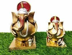 Poly Clay,Mdf Board & Ball Ganesha Decorative Handcraft Showpiece