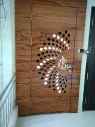 Laminated Brown Decorative Wooden Door, Thickness: 38 Mm