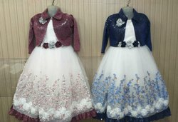 Embroidered Kids Embroider Party Wear Gown