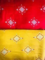 Rayon gold printed Kurti Febric