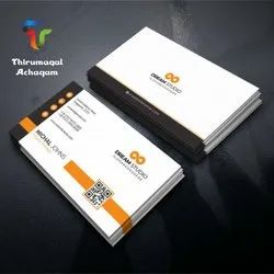 White Cardboard Company Visiting Card, Size: 92 X 54mm