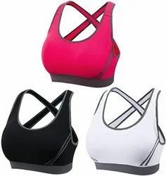 Women's Sports Bra Mid Impact Yoga Bra Padded Running Bra