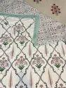 Hand Block Printed Cotton Mulmul Reversible Dohar,