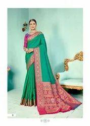 Ladies Silk Weaving Designer Pallu Sarees