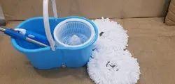 Blue Plastic Spin Bucket Mop