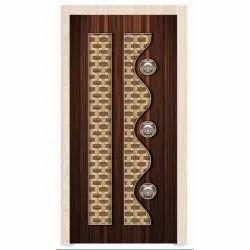 Brown Decorative Wooden Laminated Door
