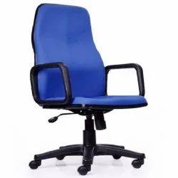 Fabric Blue Revolving Office Chair, Black