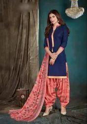 Ladies Designer Patiyala Suit, Handwash