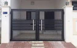 Mild Steel 7.6 Feet MS Safety Door, For Residential