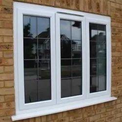 White Powder Coated 6x3 Feet Aluminium Window, For Housing & Building