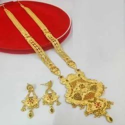 Good Quality Long Haar Necklace And Earrings Jewellery Set For Women And Girl Bijoux- 6
