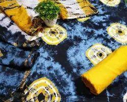 Printed Unstitched Kota Doria Suit Fabric, Machine wash