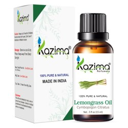 KAZIMA 100% Pure Natural & Undiluted Lemongrass Oil