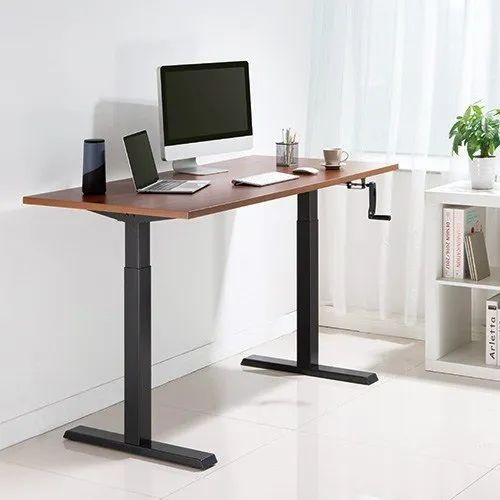 Manual Adjustable Height Table With, Standing Desk Crank