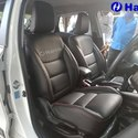 Black Front & Back Car Leather Seat Covers