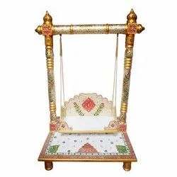 Indoor Vertical Marble Jhula, For Home, Size: 15 Inch