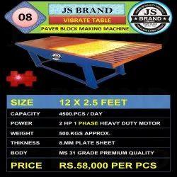 500 kgs Vibrate Table Paver Block Making Machine