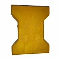 Cement Yellow I Shaped Paver Blocks, For Flooring, Thickness: 60 Mm