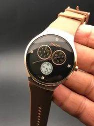 Men Luxury(Premium) RADO Rubber belt watch for man, For Personal Use