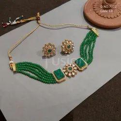 Fusion Arts Antique Beaded Choker Necklace Set
